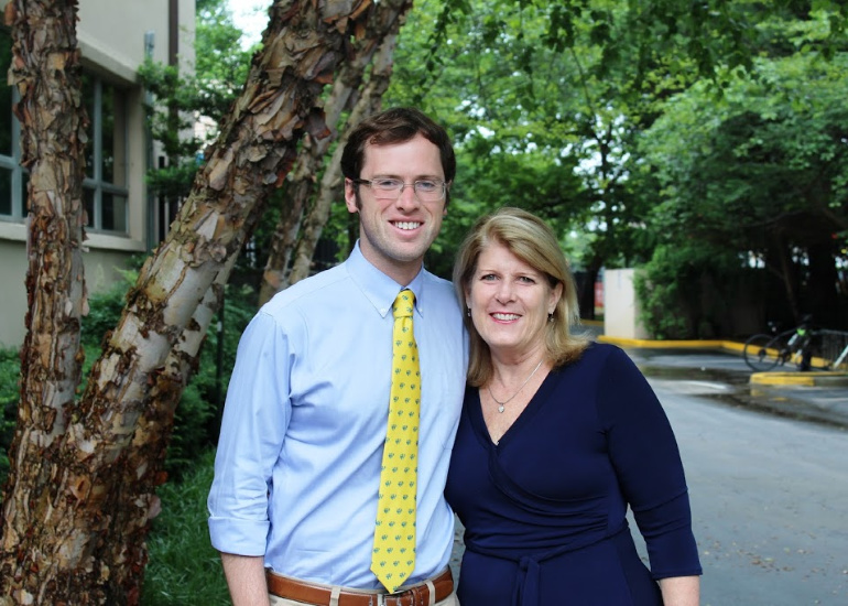 Director of Admission and Financial Aid Kim Bair and Associate Director of Admission Nick Lellenberg