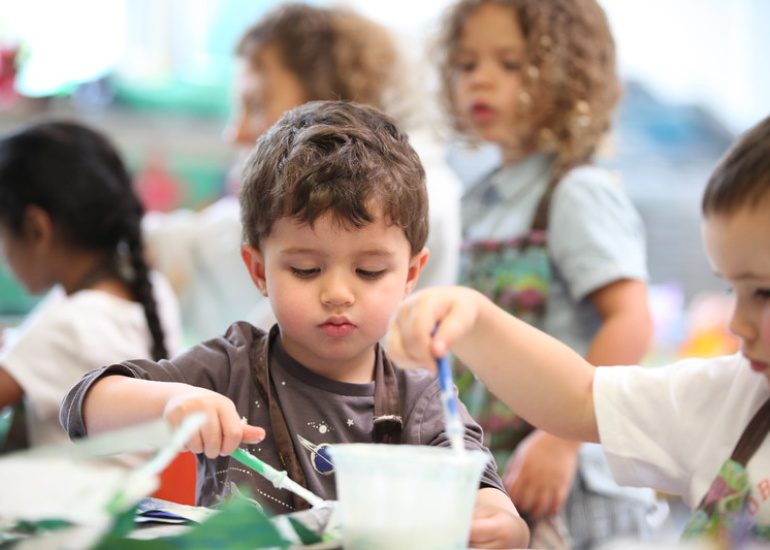 Early Childhood Art Education at Bethesda Maryland private school