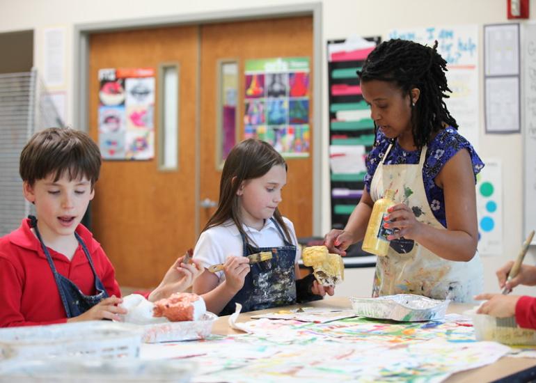Elementary School Art Education Program at Washington Episcopal School